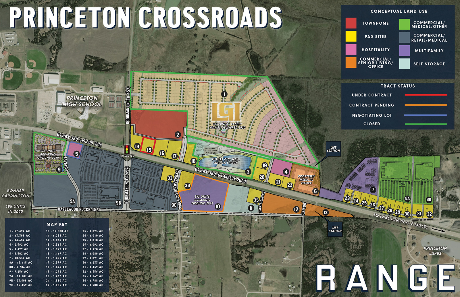 Princeton Crossroads - Mixed Use Land for Sale Texas