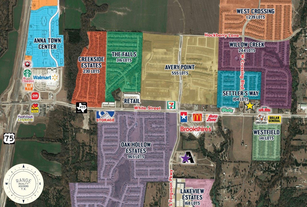White Street Pad Sites Map Celina Texas