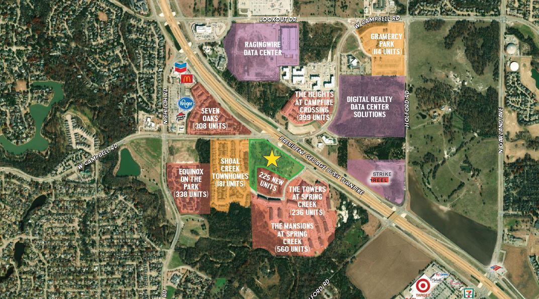 Campbell and PGBT Commercial Land for Sale - Garland Texas
