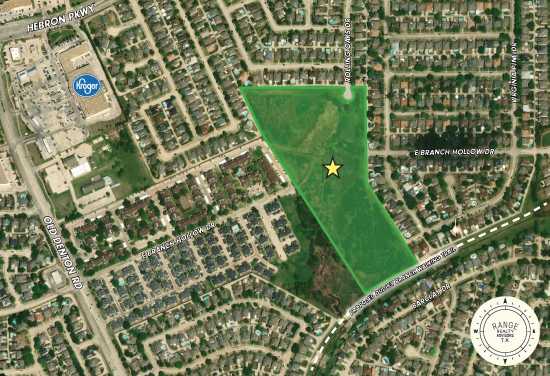 Rolling Oaks Residential - Commercial Land for Sale Carrollton Texas